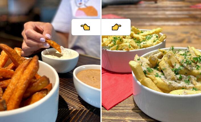 Frites de patates douces vs. Dirty Fries