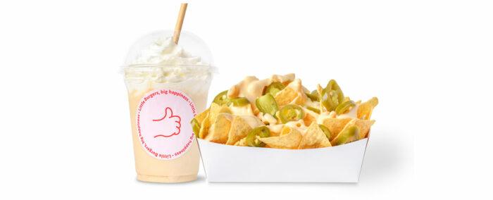 Milkshake et nachos Little Huggy's